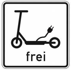 e-Scooter Straßenschild
