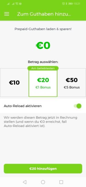 Lime Prepaid-Möglichkeiten