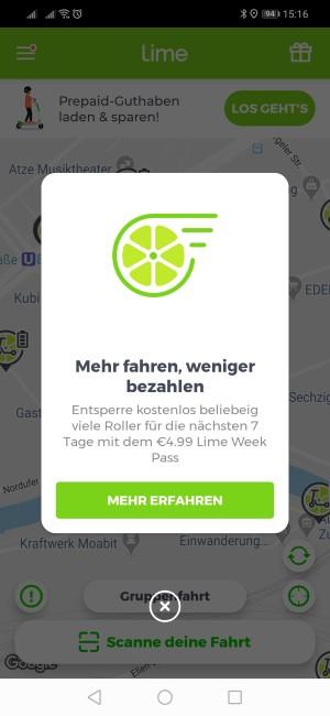 LimePass Übersicht